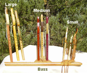 Main Flute Page - Wood Choices - Aromatic Cedar, Hard Woods